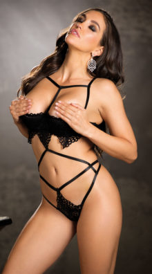 Photo of Alluring Cage Teddy @EX4.NL Exclusive Lingerie