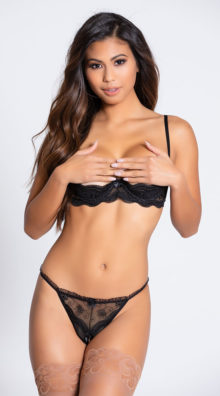 Photo of Embroidered Shelf Bra @EX4.NL Exclusive Lingerie
