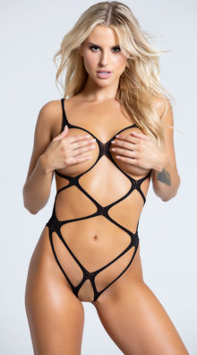 Photo of Cupless Strappy Teddy @EX4.NL Exclusive Lingerie
