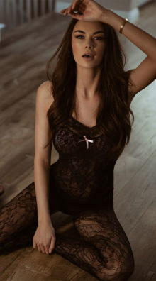 Photo of Halter Lace Bodystocking @EX4.NL Exclusive Lingerie