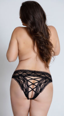 Photo of Plus Size Crotchless Panty @EX4.NL Exclusive Lingerie