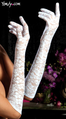 Photo of Lace Elbow Length Gloves @EX4.NL Exclusive Lingerie