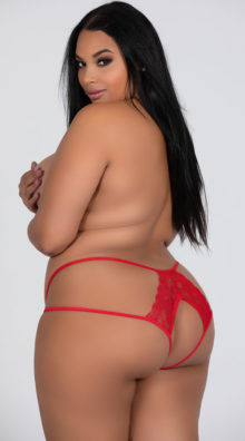 Photo of Plus Size Double Strapped Open Back Panty @EX4.NL Exclusive Lingerie