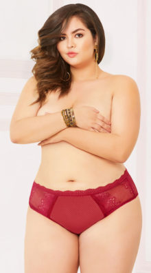 Photo of Plus Size Lace and Net Open Back Panty @EX4.NL Exclusive Lingerie