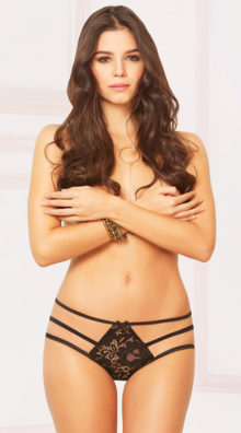 Photo of All Strapped Up Open Crotch Panty @EX4.NL Exclusive Lingerie
