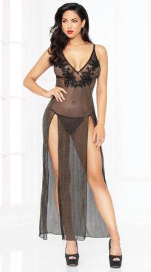 Photo of Sassy Shimmer Lingerie Gown Set @EX4.NL Exclusive Lingerie