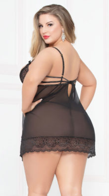 Photo of Plus Size Open Cup Blissful Babydoll Set @EX4.NL Exclusive Lingerie