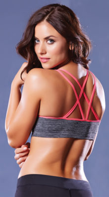 Photo of Strappy Contrast Push-Up Sports Bra @EX4.NL Exclusive Lingerie
