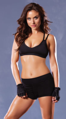 Photo of Strappy Black Sports Bra @EX4.NL Exclusive Lingerie