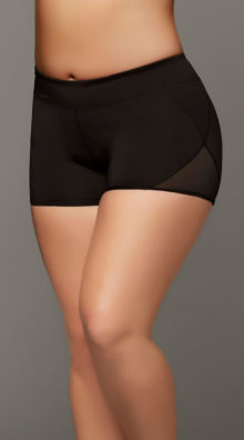 Photo of Plus Size Microfiber and Mesh Shorts @EX4.NL Exclusive Lingerie