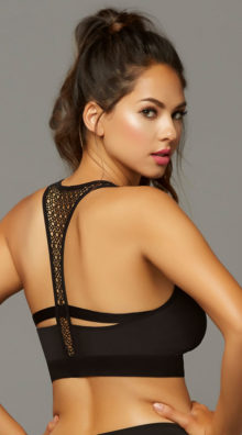 Photo of Stow and Go Crochet Sports Bra @EX4.NL Exclusive Lingerie