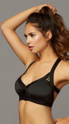 Photo of Strappy Netted Black Sports Bra @EX4.NL Exclusive Lingerie
