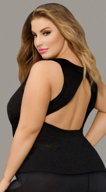 Photo of Plus Size Textured Rayon Tank Top @EX4.NL Exclusive Lingerie