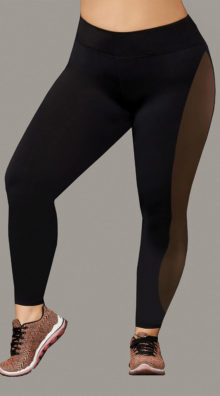 Photo of Plus Size Sport Jersey and Mesh Leggings @EX4.NL Exclusive Lingerie
