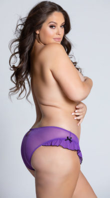 Photo of Plus Size Mesh Panty With Ruffle Hem And Back Keyhole @EX4.NL Exclusive Lingerie