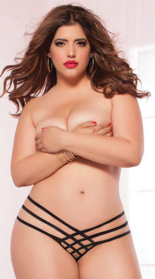 Photo of Plus Size Strap Me In Thong @EX4.NL Exclusive Lingerie
