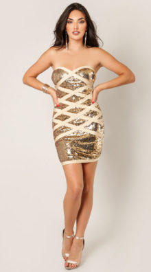 Photo of Lara Wrap Me Up In Sequins Dress @EX4.NL Exclusive Lingerie