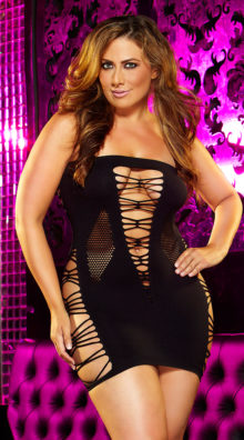 Photo of Plus Size Erotic Foreplay Mini Dress @EX4.NL Exclusive Lingerie