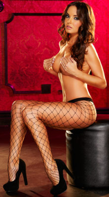 Photo of Large Net Pantyhose @EX4.NL Exclusive Lingerie