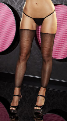 Photo of Black Footless Fishnet Thigh Highs @EX4.NL Exclusive Lingerie