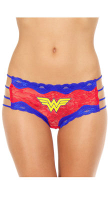 Photo of Plus Size Wonder Woman Hipster Panty @EX4.NL Exclusive Lingerie