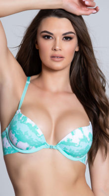 Photo of EX4 What's The Fused Green Tie Dye Racerback Bra @EX4.NL Exclusive Lingerie