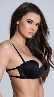 Photo of EX4 Kissing In Cage Black Bra @EX4.NL Exclusive Lingerie