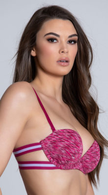Photo of EX4 Sugar and Stripe Pink Bra @EX4.NL Exclusive Lingerie