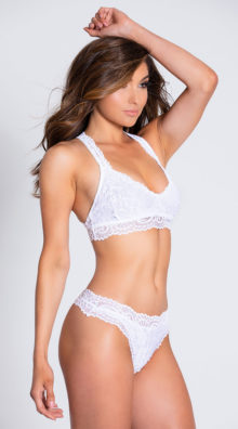 Photo of EX4 Never Let Me Go White Thong @EX4.NL Exclusive Lingerie