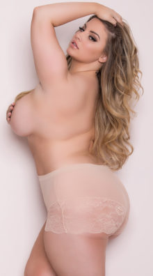 Photo of EX4 Plus Size High Waisted Power Mesh Panty @EX4.NL Exclusive Lingerie