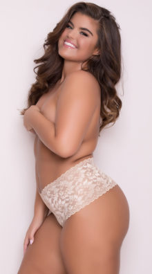Photo of EX4 Plus Size High Waisted Stretch Thong @EX4.NL Exclusive Lingerie