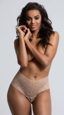 Photo of EX4 High Waisted Power Stretch Lace Thong @EX4.NL Exclusive Lingerie