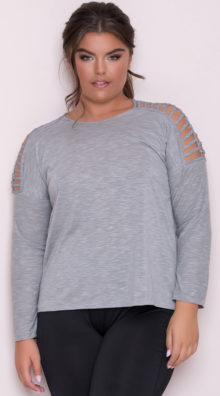 Photo of EX4 Plus Size Caged Active Top @EX4.NL Exclusive Lingerie