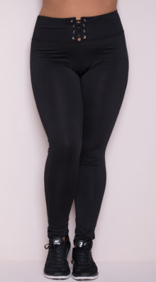 Photo of EX4 Plus Size Lace-Up Leggings @EX4.NL Exclusive Lingerie