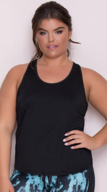 Photo of EX4 Plus Size Sporty Mesh Tank Top @EX4.NL Exclusive Lingerie