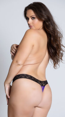 Photo of EX4 Plus Size All Over Lace Thong @EX4.NL Exclusive Lingerie