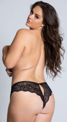 Photo of EX4 Plus Size Lace Cheeky Panty with Keyhole Openings @EX4.NL Exclusive Lingerie