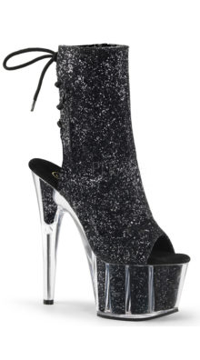 """Photo of 7"""" Open Toe Glitter Ankle Boot @EX4.NL Exclusive Lingerie"""